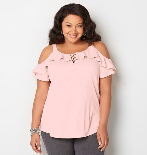 plus-size-cold-shoulder-ruffle-top
