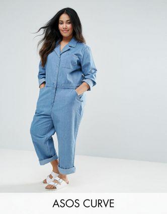 1a2aba025df 8 Plus Size Denim Jumpsuits To Wear For Fall – Estrella Fashion Report