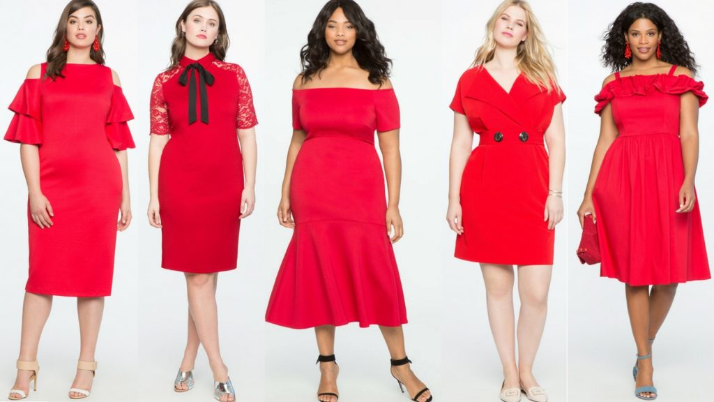 red plus size dresses from eloquii vestidos rojos de talla grande