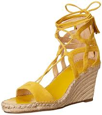 yellow vince camuto espadrille wedge sandal