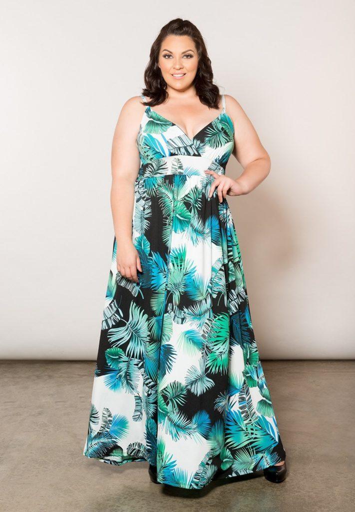 4752db6dd0a On Trend  8 Palm Leaf Print Plus Size Dresses – Estrella Fashion Report
