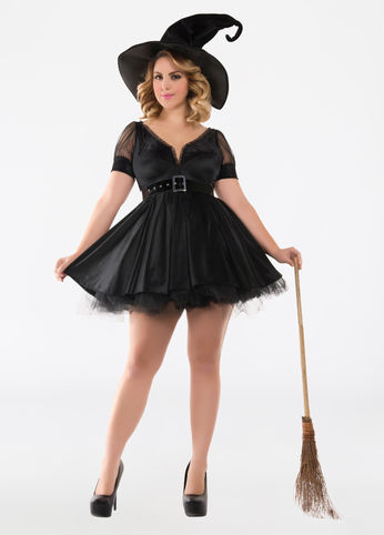 witch plus size costume from ashley stewart