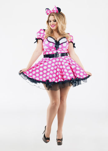 plus size pink mouse costume from ashley stewart