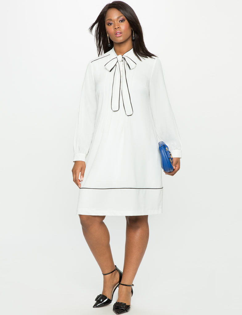 soft white plus size shirt dress from eloquii
