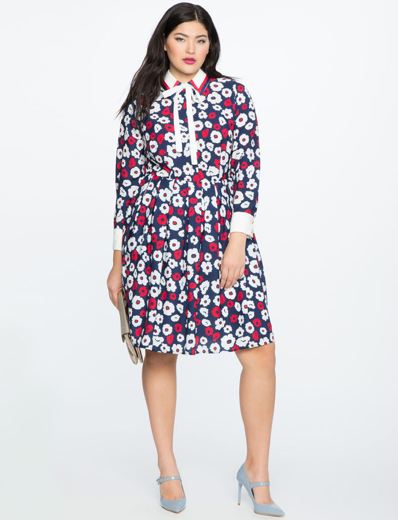 eloquii x katie sturino fit and flare dress