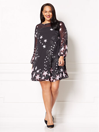 star print plus size dress from eva mendes for new york and company