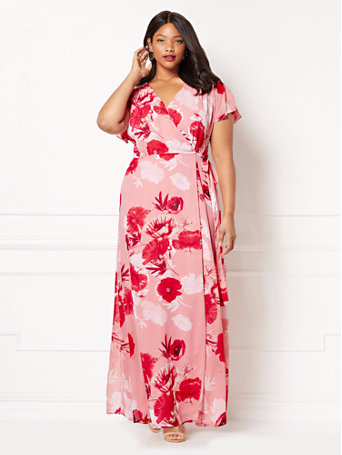plus size floral wrap dress from eva mendes for new york and company