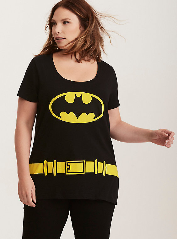 plus size batman costume tee