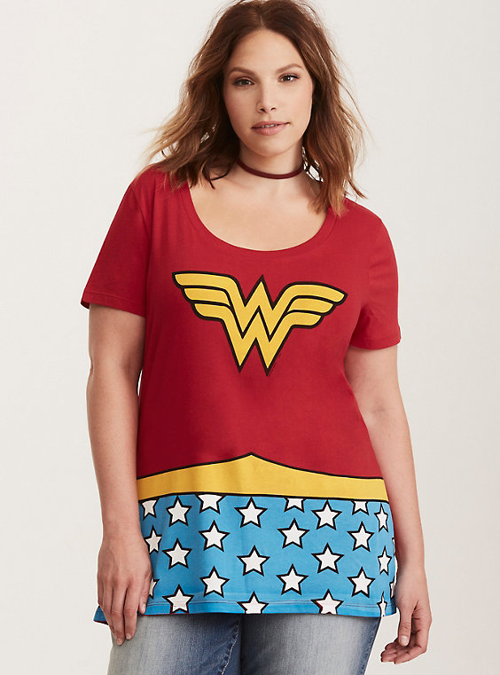 plus size wonder woman tshirt from torrid