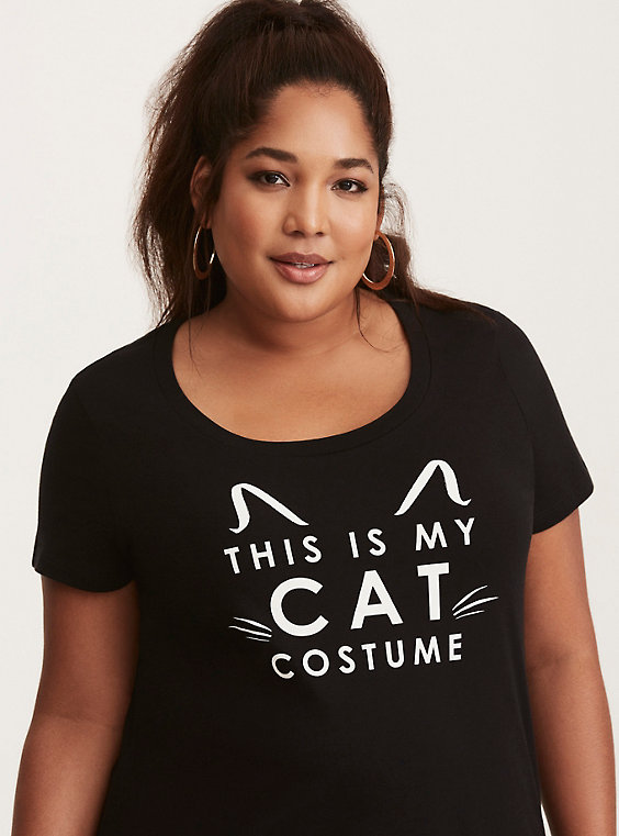 cat costume plus size scoop tee