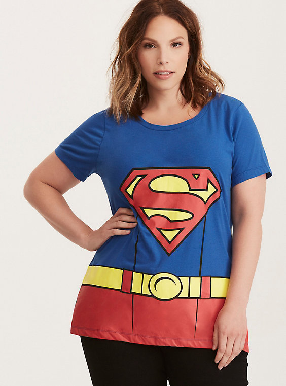 plus size superman Halloween tee