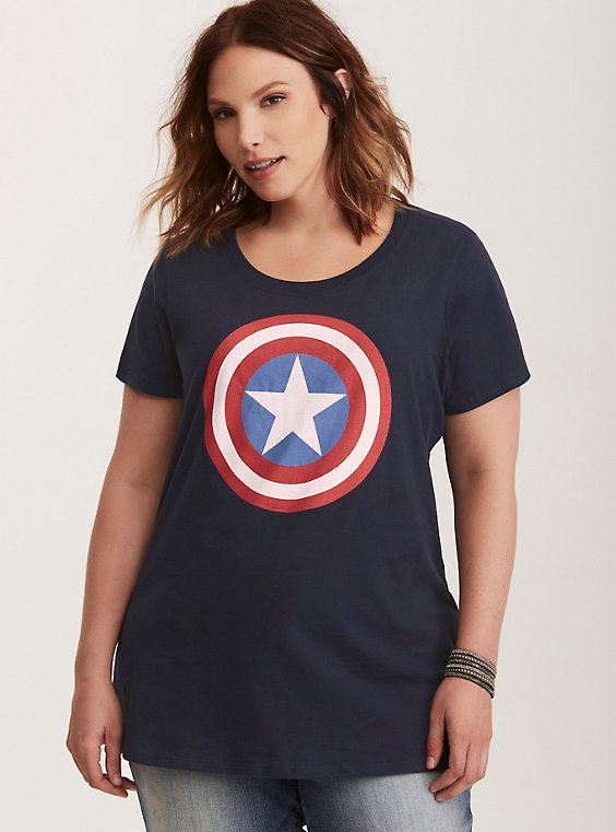 plus size captain america tee
