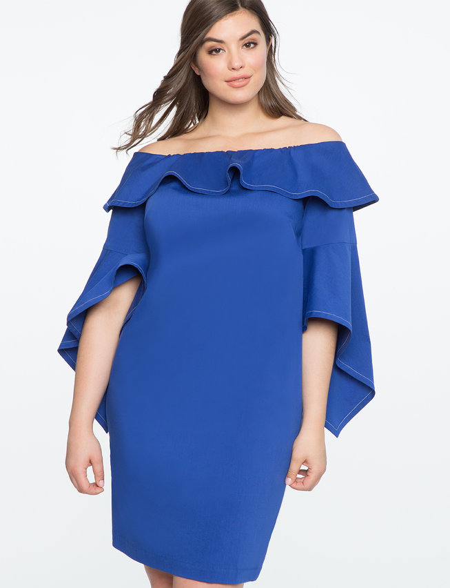 plus size cobalt blue dress