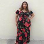 Cold Shoulder Floral Maxi Dress