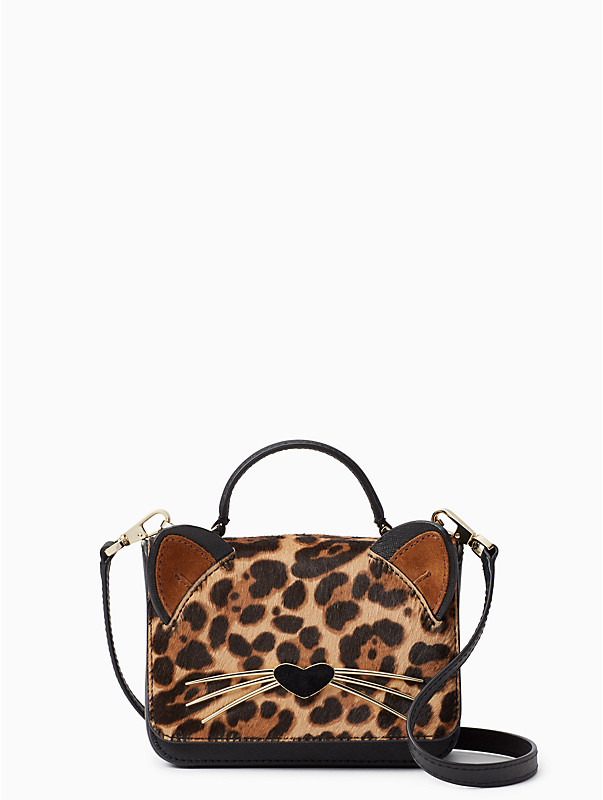 kate spade run wild leopard print mini janine