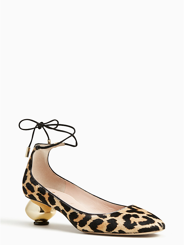 kate spade olana leopard print heels