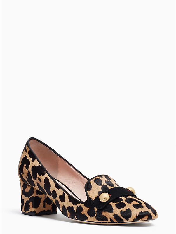 kate spade leopard print margery heels
