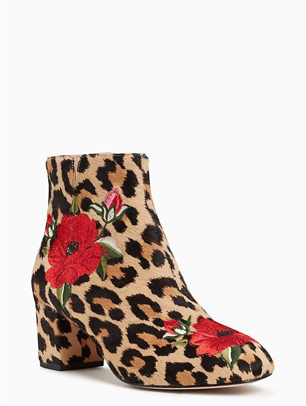 kate spade leopard print langton boots