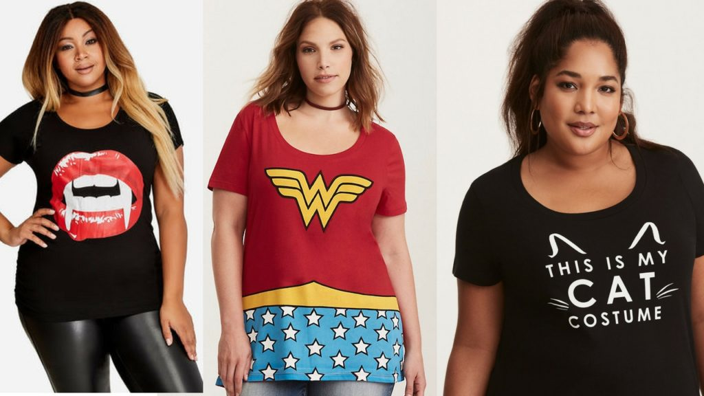 plus size Halloween t-shirts