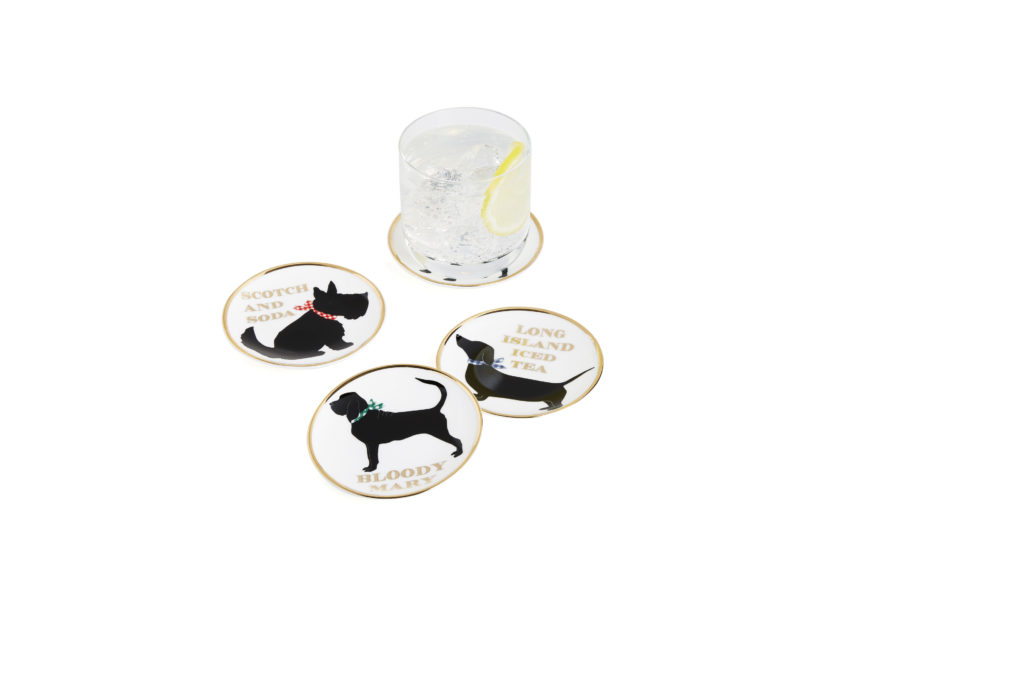 dog drink coaster draper james for crate and barrel