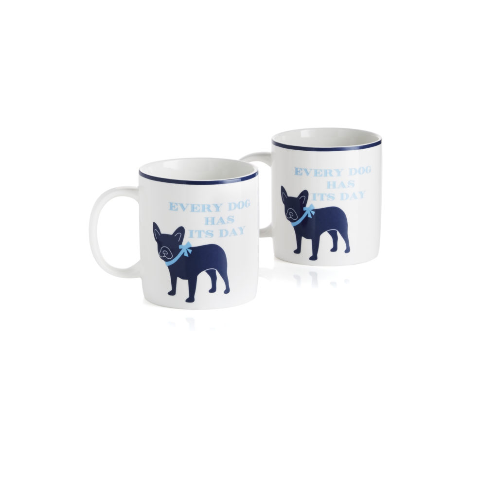 dog mugs from draper james for crate and barrel