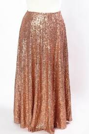 plus size rose gold sequin skirt
