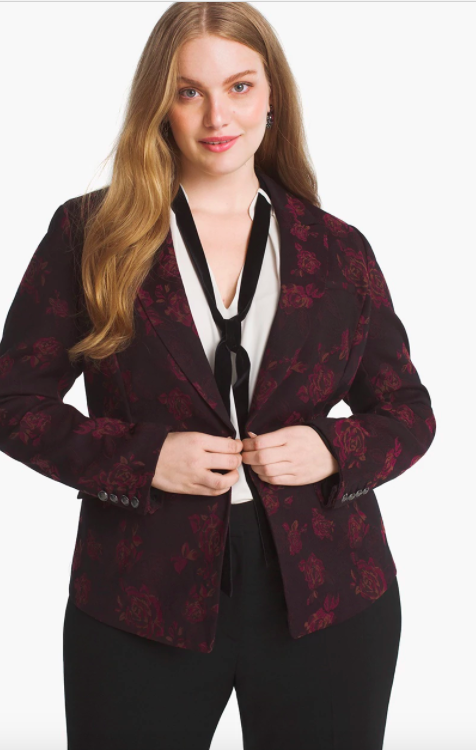 white house black market plus size jacket