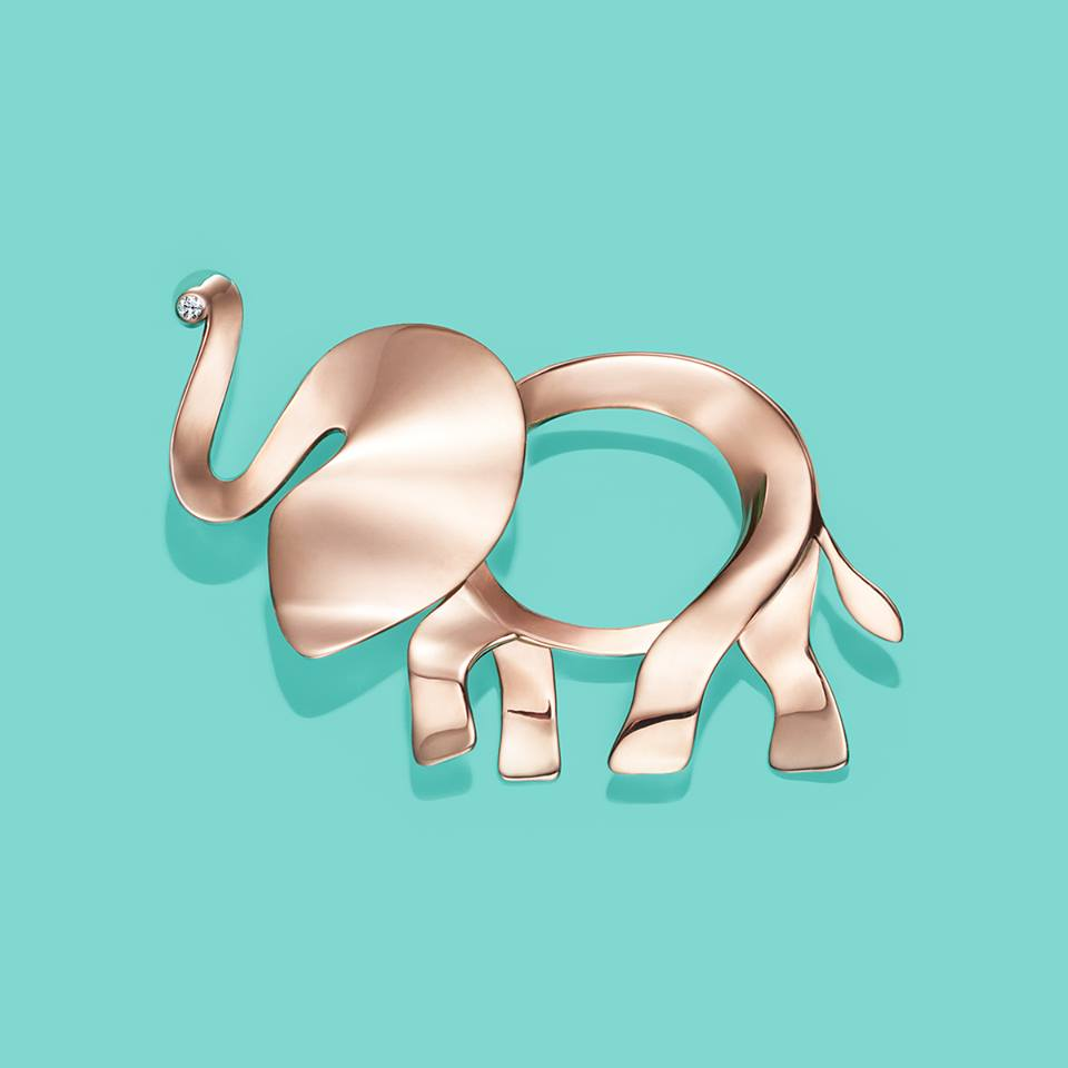 Tiffany & Co. Save The Wild Collection Elephant Brooch