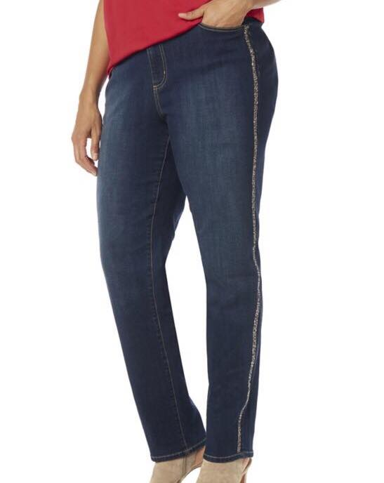 tuxedo stripe jeans from catherines
