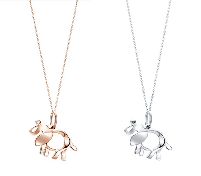 Tiffany & Co. Save The Wild Collection Elephant Charms
