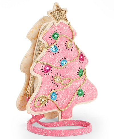 pink Christmas tree crossbody bag