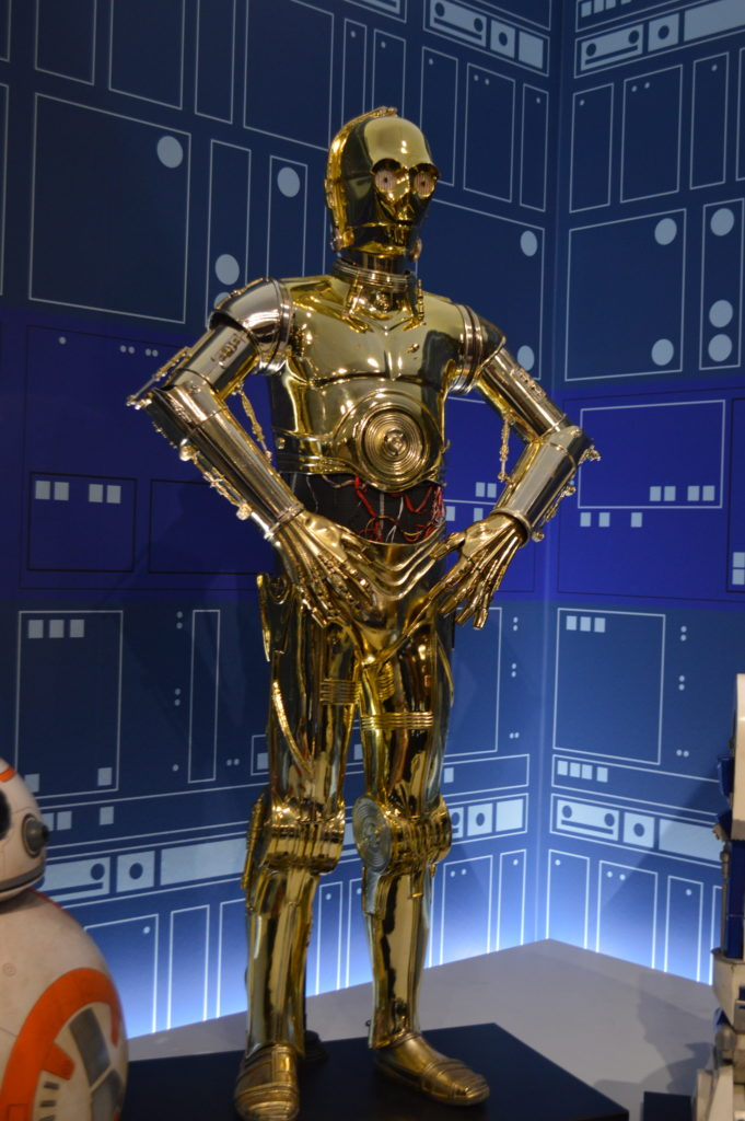 Star Wars and The Power of Costumes Exhibit at the MFA in St Pete, Florida. C-3PO