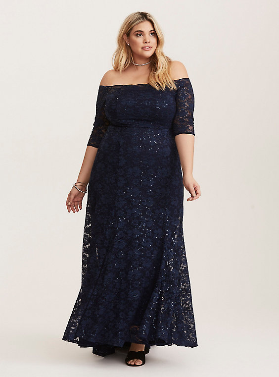 sequin nave blue dress