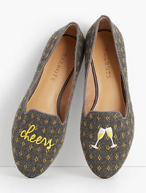 Ryan Wool Dobby Loafers from Talbots
