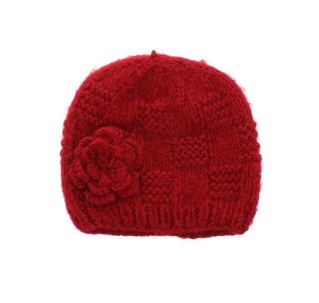 red beanie with hat