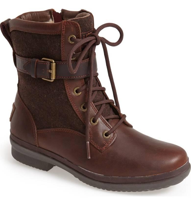 chestnut combat boots