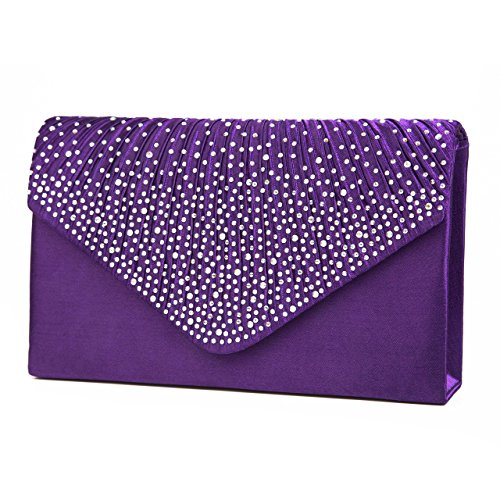 purple envelope clutch