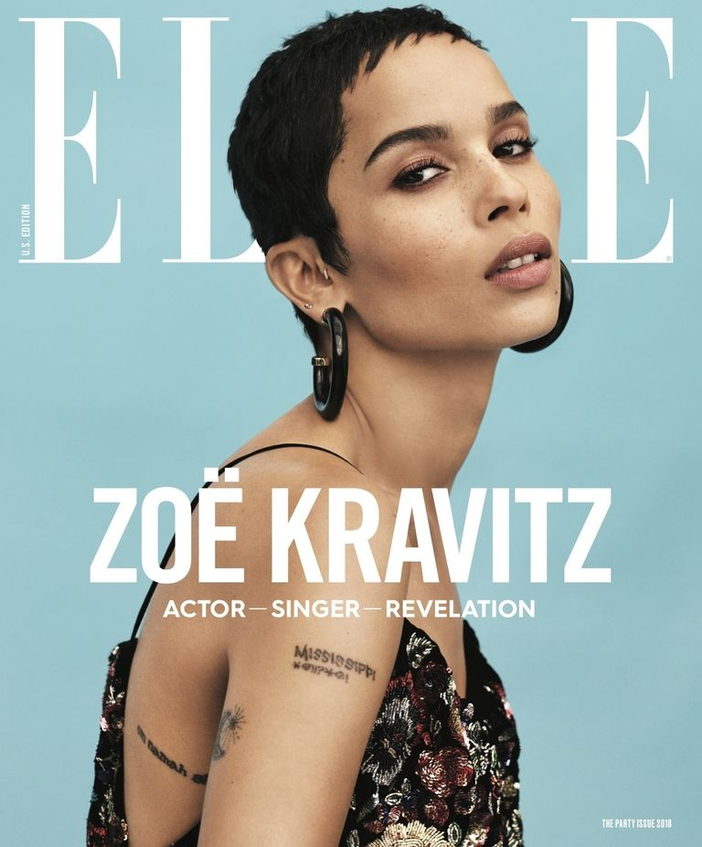 Zoe Kravitz on the cover of ELLE Magazing January 2018
