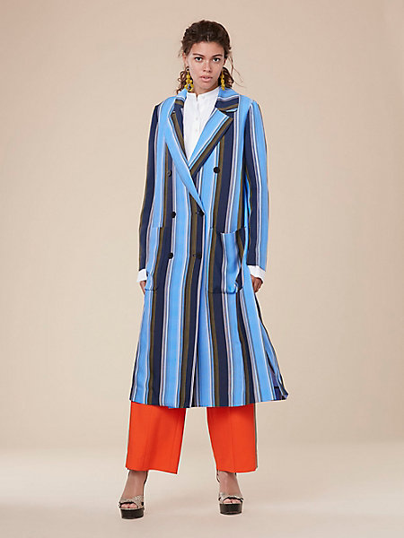 long sleeve floor length coat by DVF
