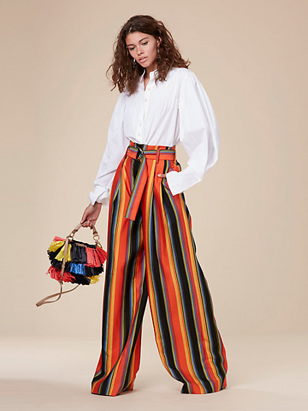 wide leg belted pants from DVF