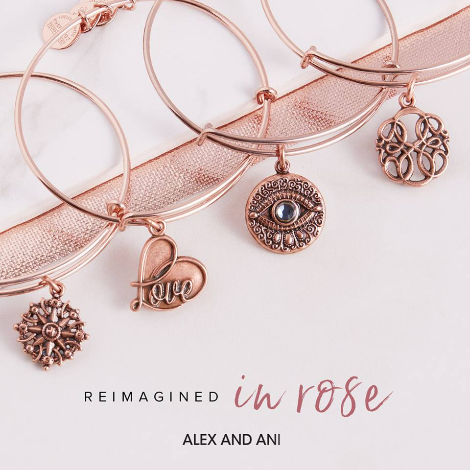 alex and ani rafaelian rose gold finish jewelry