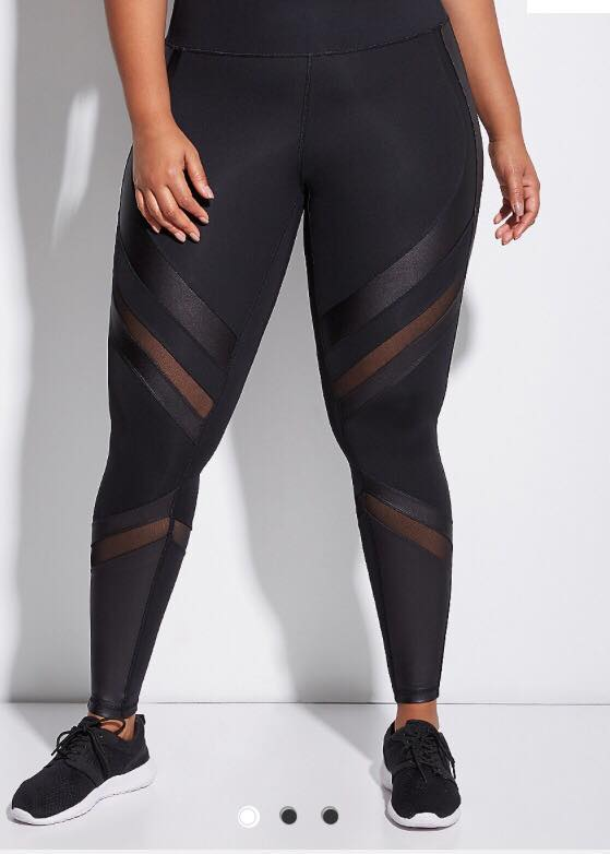 black sculpting leggings from lane bryant