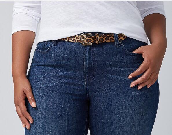 leopard print skinny belt