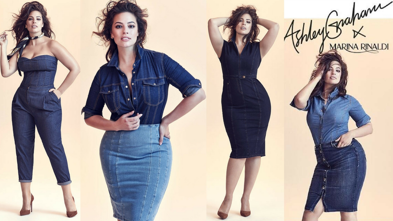02ce6fd298921 The Ashley Graham x Marina Rinaldi SS18 Denim Collection (Photos ...