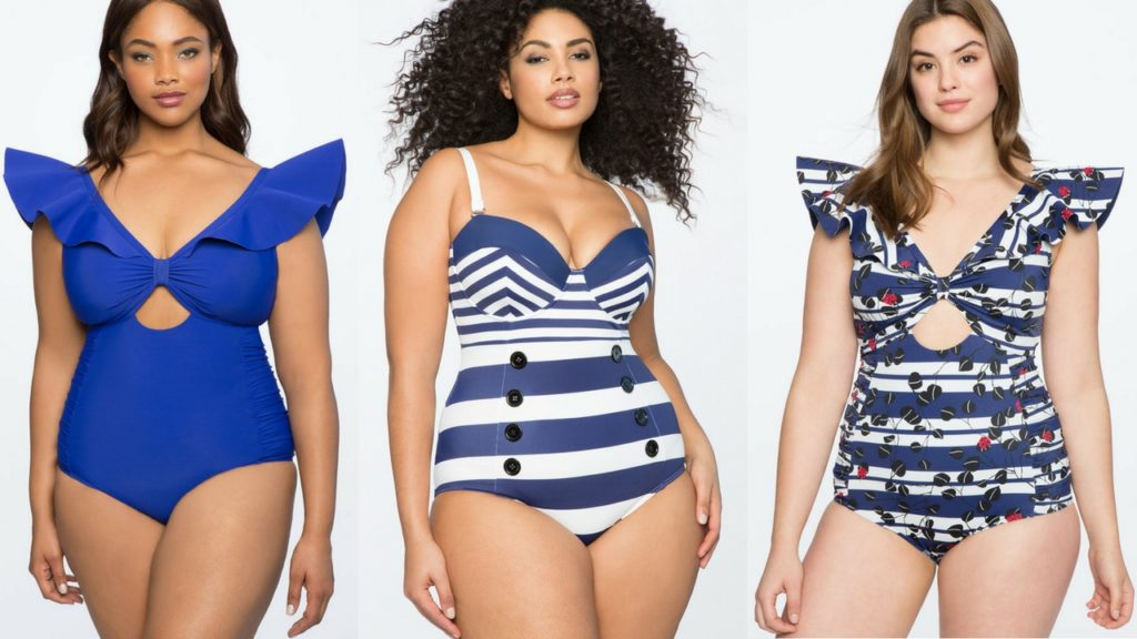 eloquii nautical inspired plus size swimwear