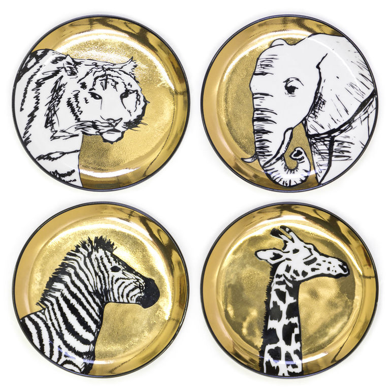 animal print coasters