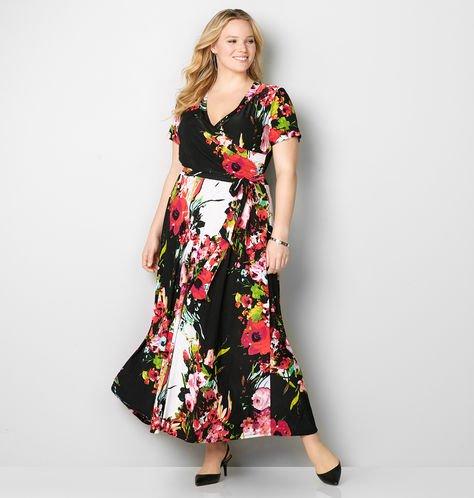 aux wrap plus size maxi dress from avenue plus