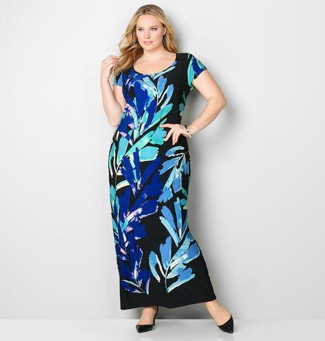 watercolor flower maxi dress