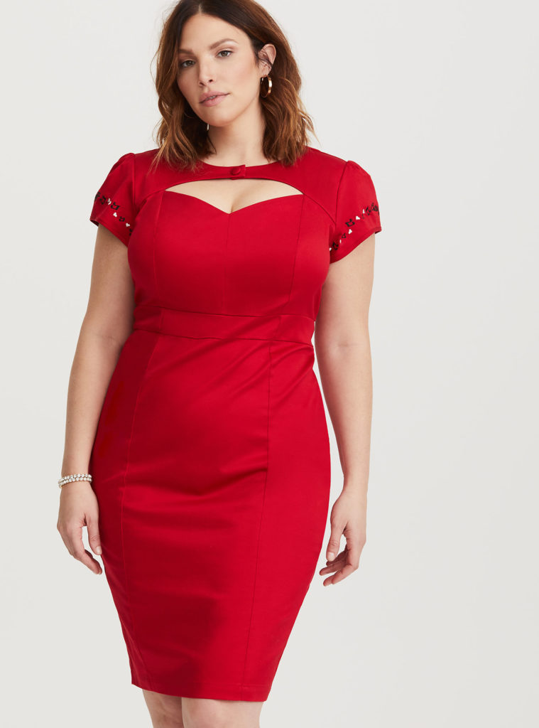 betty boop embroidered red cap sleeve dress