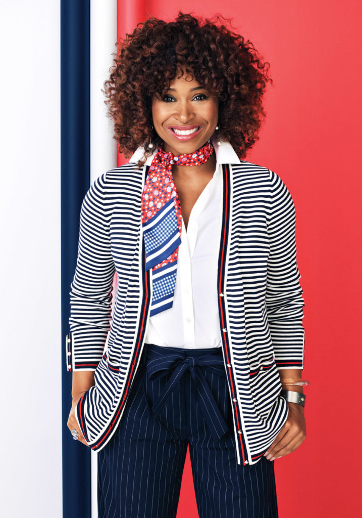 Tanika Ray wearing O, The Oprah Magazine Collection for Talbots